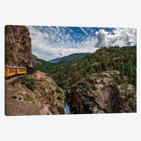 Train Ride In The Rockies Canvas Print #JRP104} by Jonathan Ross Photography Canvas Wall Art