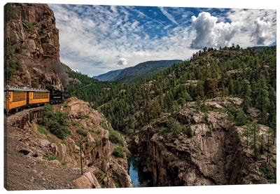 Train Ride In The Rockies Canvas Art Print