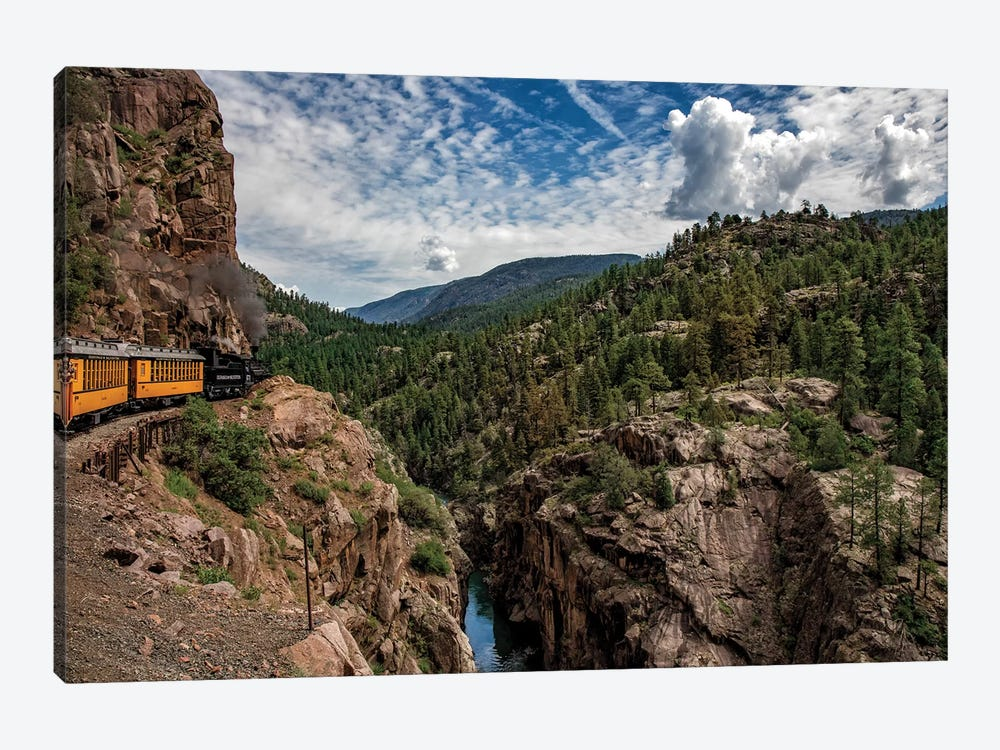 Train Ride In The Rockies by Jonathan Ross Photography 1-piece Canvas Art