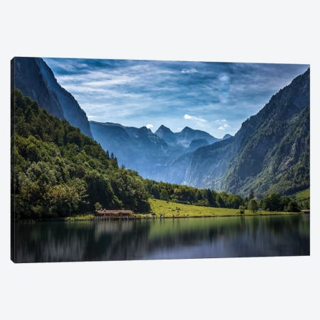 Tranquil Alpine Lake Canvas Print #JRP105} by Jonathan Ross Photography Canvas Art