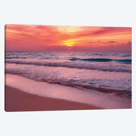 Waiting For The Sun Canvas Print #JRP107} by Jonathan Ross Photography Canvas Art