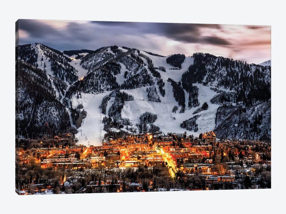 Winter Aspen Lights by Jonathan Ross Photography 1-piece Canvas Artwork