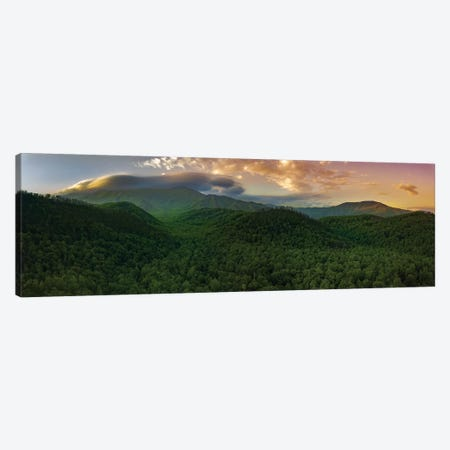 Storm Over The Smokies Canvas Print #JRP117} by Jonathan Ross Photography Art Print