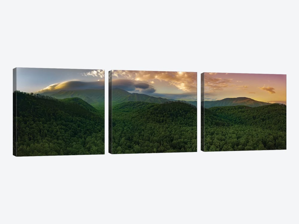 Storm Over The Smokies by Jonathan Ross Photography 3-piece Canvas Artwork