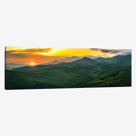 Sunset On The Smokies Canvas Print #JRP118} by Jonathan Ross Photography Canvas Artwork