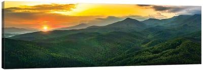 Sunset On The Smokies Canvas Art Print