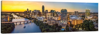 Austin Skyline After Sunset Canvas Art Print