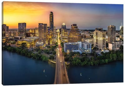 Austin Skyline With Capital Canvas Art Print