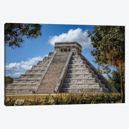 Chichén Itzá Canvas Print #JRP12} by Jonathan Ross Photography Art Print