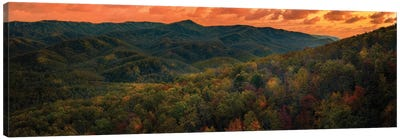 Sunset In The Smokies Canvas Art Print