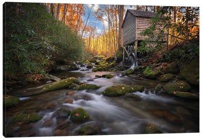 Autumn Glow Near The Mill Canvas Art Print