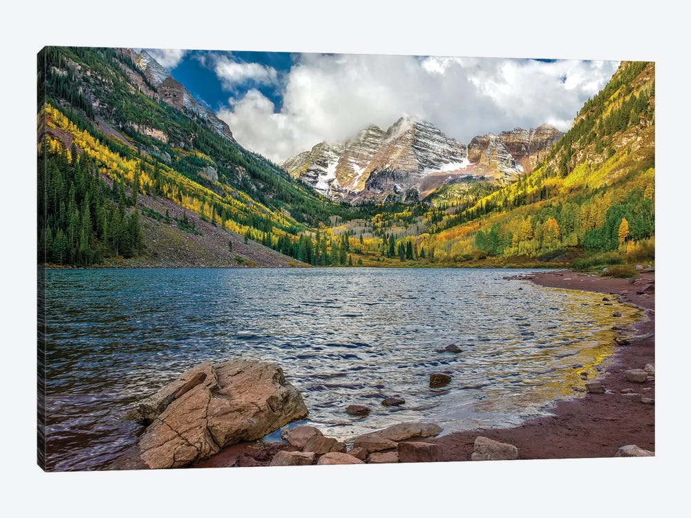 Cloudy Peaks by Jonathan Ross Photography 1-piece Canvas Wall Art