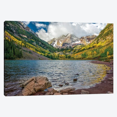 Cloudy Peaks 3-Piece Canvas #JRP13} by Jonathan Ross Photography Canvas Art Print
