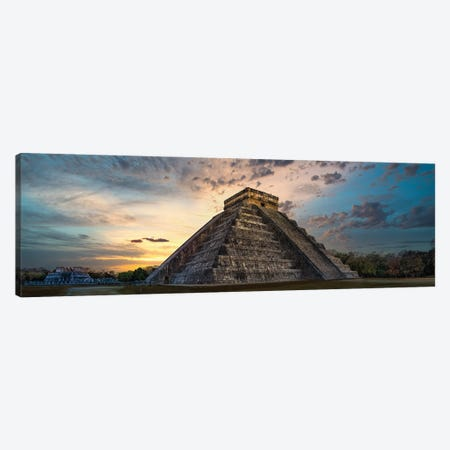 Chichen-Itza Sunset Canvas Print #JRP144} by Jonathan Ross Photography Canvas Wall Art