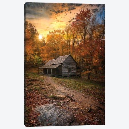 Sunset Near The Log Cabin Canvas Print #JRP145} by Jonathan Ross Photography Canvas Art