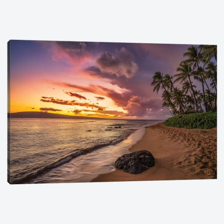 Sunrise In Maui Canvas Print #JRP147} by Jonathan Ross Photography Canvas Artwork