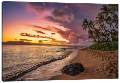 Sunrise In Maui Canvas Art Print