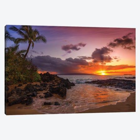 Sunset At Secret Beach Canvas Print #JRP148} by Jonathan Ross Photography Canvas Print