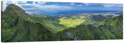Flying Over Hawaii Canvas Art Print