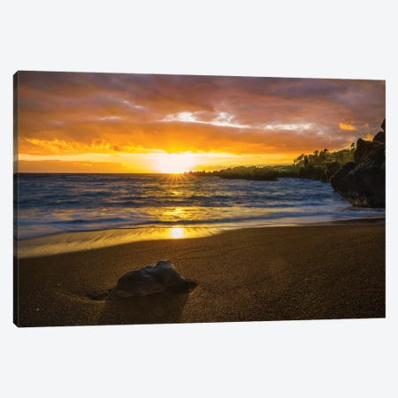 Sunrise In Hawaii Canvas Print #JRP150} by Jonathan Ross Photography Canvas Art