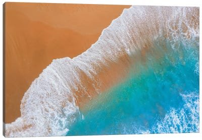 Where Sand Meets The Ocean Canvas Art Print