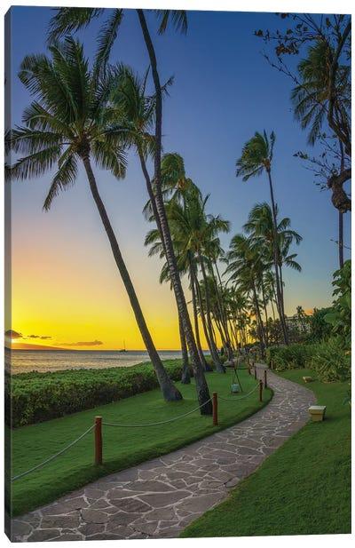 A Stroll In Maui Canvas Art Print