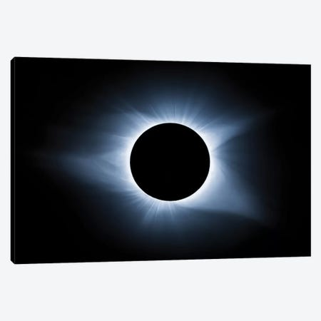 Cool Solar Eclipse 3-Piece Canvas #JRP15} by Jonathan Ross Photography Canvas Artwork