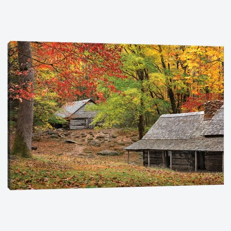 An Autumn Home Canvas Print #JRP166} by Jonathan Ross Photography Canvas Artwork