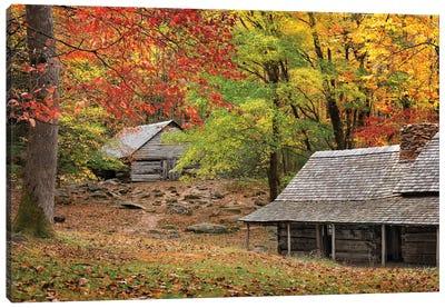 An Autumn Home Canvas Art Print