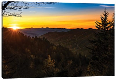 Sunset High In The Smokies Canvas Art Print