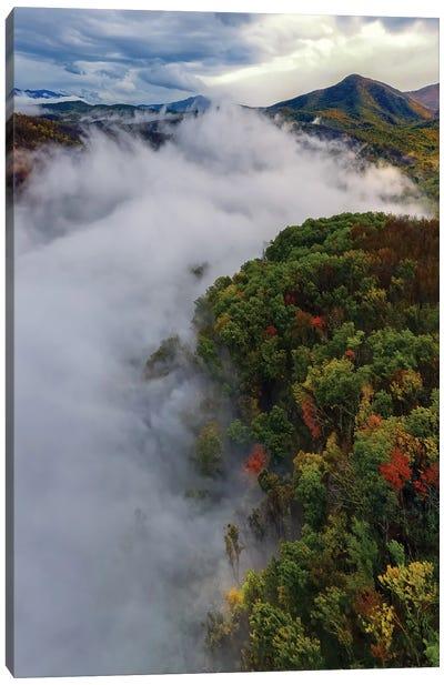 Smoky Mountain'S Fog Canvas Art Print