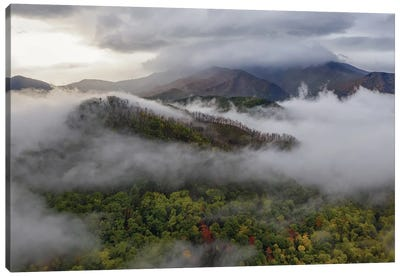 The Smoky Mountains In The Fall Canvas Art Print