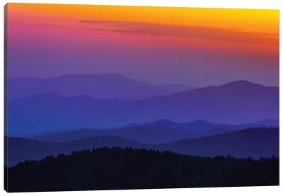 Rainbow In The Smokies Canvas Art Print