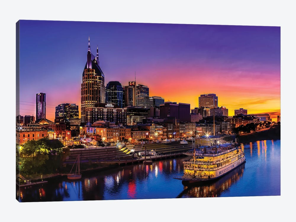 Cruising Nashville by Jonathan Ross Photography 1-piece Canvas Art