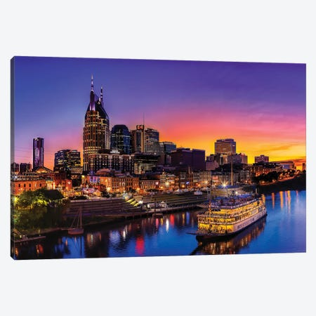Cruising Nashville Canvas Print #JRP17} by Jonathan Ross Photography Canvas Artwork