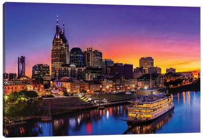 Cruising Nashville Canvas Art Print
