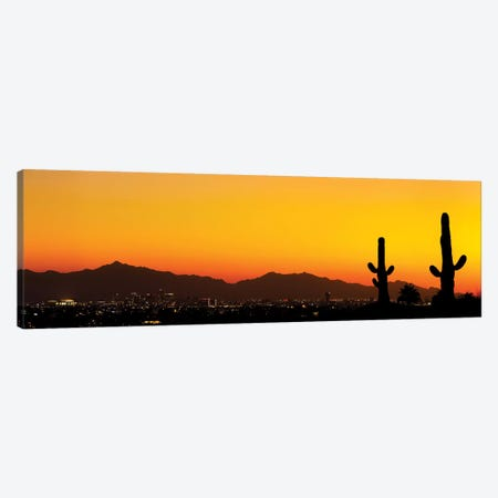 Desert City Sunset Canvas Print #JRP23} by Jonathan Ross Photography Canvas Wall Art