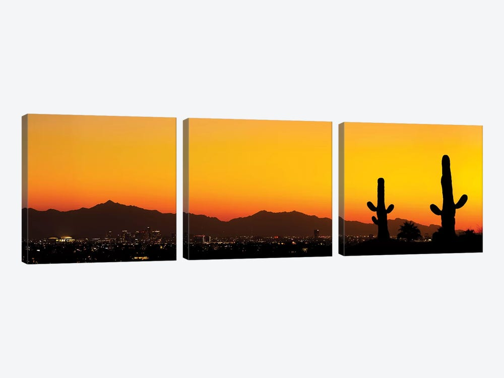 Desert City Sunset by Jonathan Ross Photography 3-piece Canvas Print