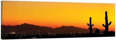 Desert City Sunset Canvas Art Print
