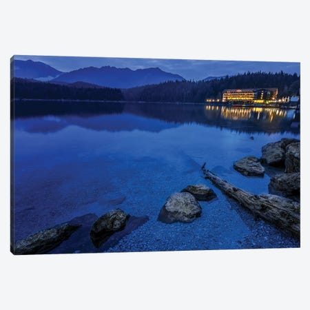 Eibsee At Dusk Canvas Print #JRP26} by Jonathan Ross Photography Canvas Print