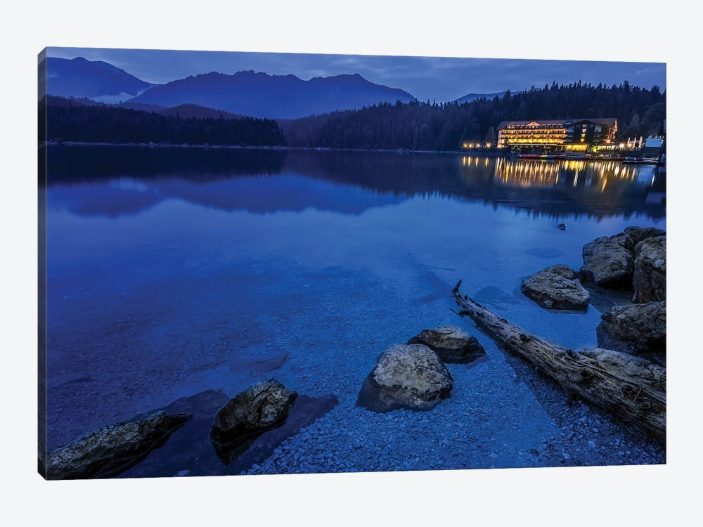 Eibsee At Dusk by Jonathan Ross Photography 1-piece Canvas Art