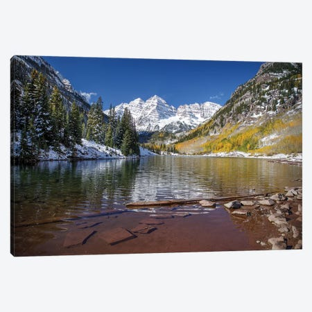 First Snowfall 3-Piece Canvas #JRP27} by Jonathan Ross Photography Canvas Art Print