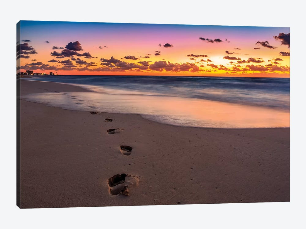 Footsteps At Sunrise by Jonathan Ross Photography 1-piece Art Print