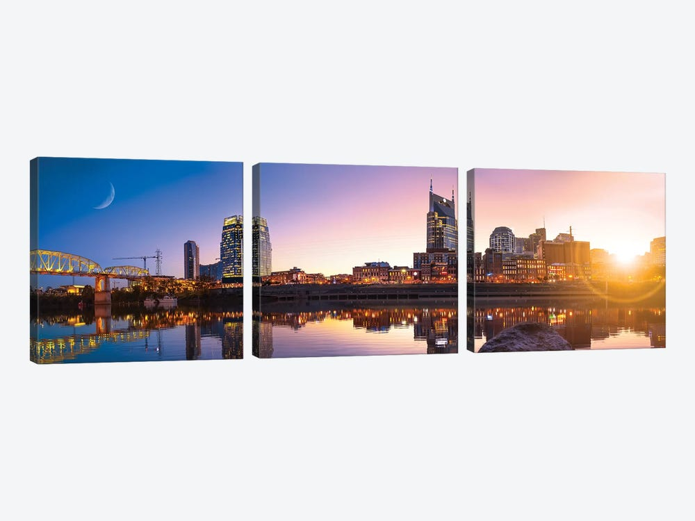 Good Morning Nashville by Jonathan Ross Photography 3-piece Canvas Print