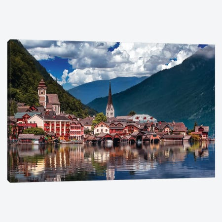 Hallstatt Reflections Canvas Print #JRP33} by Jonathan Ross Photography Canvas Print