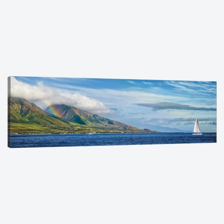 Hawaiian Catamaran Canvas Print #JRP36} by Jonathan Ross Photography Canvas Art