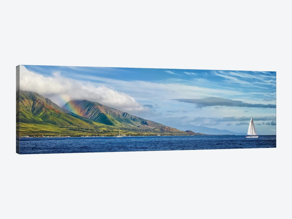 Hawaiian Catamaran by Jonathan Ross Photography 1-piece Canvas Print