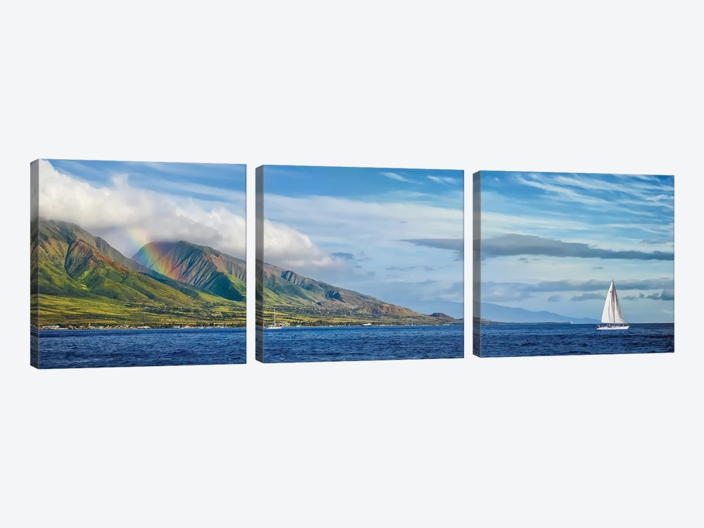 Hawaiian Catamaran by Jonathan Ross Photography 3-piece Art Print