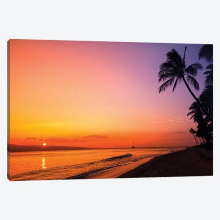 Hawaiian Sunset Glow Canvas Print #JRP38} by Jonathan Ross Photography Canvas Art Print