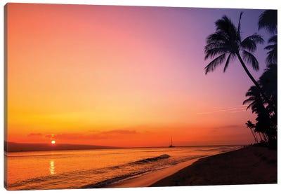 Hawaiian Sunset Glow Canvas Art Print
